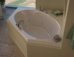 venzi stella 60 x 60 corner air whirlpool jetted bathtub with center drain by atlantis