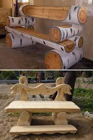 log furniture ideas. Endearing Rustic Log Furniture Ideas 17 Best About Benches On Pinterest Outdoor U