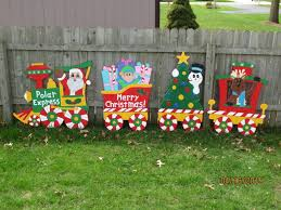 christmas polar express train wood outdoor yard art polar express with the brilliant as well as lovely wood yard art plans for existing home