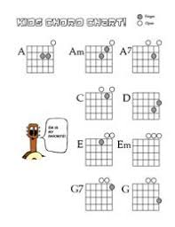 Guitar For Kids Games Chord Charts Fret Note Charts