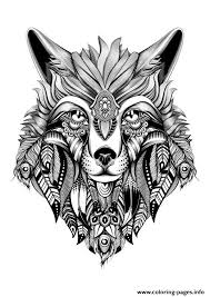 Premium Wolf Adult Hd High Quality Coloring Pages Printable