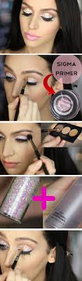 pink glitter awesome prom makeup ideas full face diy new years eve makeup looks