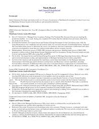 Mainframe Resume Sample Mainframe Resume Sample DiplomaticRegatta 1