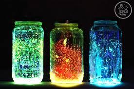 glow in the dark shower curtain glow in the dark mason jars using glow sticks amazing