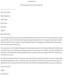 Educator Cover Letter Swimming Teacher Cover Letter For Job Applications