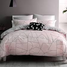fraction duvet cover set by nu edition pink