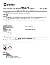 Saftey Kleen Systems Fillable Online Sds Safety Kleen Premium Solvent Virgin And