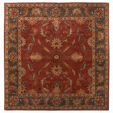 aristocrat rust red 8 ft x 8 ft square area rug