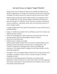 sample essay on apple target market