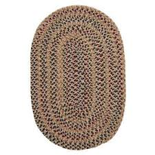winchester natural 8 ft x 10 ft oval braided area rug natural palm