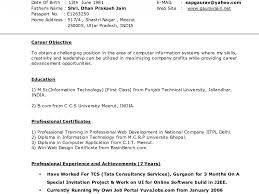 Resume Samples Format Free Download Best of Free Cv Samples Onlinesume Templates Examples Objective Astounding