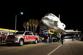 Toyota Tundra Successfully Tows 145-Ton Space Shuttle Endeavour: Video