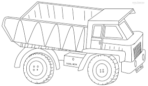 Dump Truck Coloring Pages Getcoloringpagescom