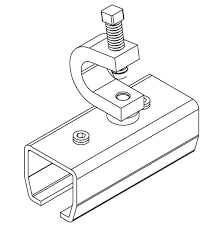 beam mount hardware for curtain track system