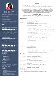Associate System Engineer Resume samples