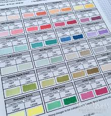 Colour Me Happy New Stampin Blends Updated Colour Chart Pdf