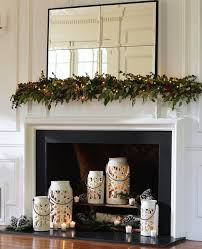 holiday fireplace candle holders