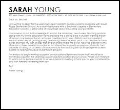 Learning Support Assistant Cover Letter Sample Cover