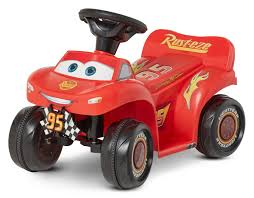 6v cars 3 lightning mcqueen quad red battery ride on toy motor bike vehicle toy