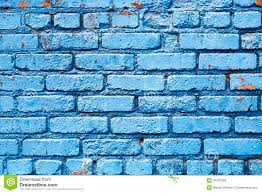 Small Picture Blue Brick Wall With Peeling Paint Background Texture Stock Photo