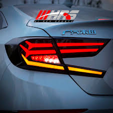 2018 Honda Accord Brake Lights Hrs 2018 19 Honda Accord Led Tail Lights V1 Black