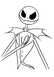 Print Coloring Image Tnb4c Christmas Decor Jack Nightmare Before