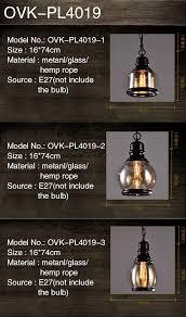 European Industrial Loft Style Vintage Hemp Rope Ceiling Lamp Clear Glass Pendant Light Buy Vintage Pendant Lightceiling Lamppendant Light Product