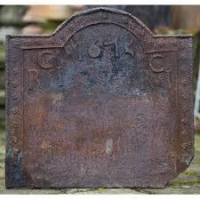 cast iron fireback. A Charles II Cast Iron Fireback