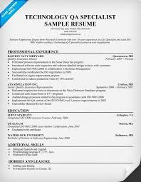 Qa Tester Resume Unique Qa Engineer Resume New Qa Software Tester