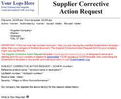 Corrective Action Template