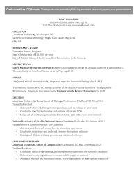 Microsoft Word Undergraduate Cv Science Docx
