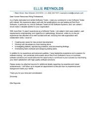 Best Software Testing Cover Letter Examples Livecareer How To Do A