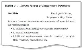 sample resume titles