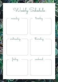 Customize 181 Weekly Schedule Planner Templates Online Canva