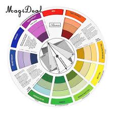 Us 3 39 29 Off Magideal Round Color Mixing Guide Wheel For Paint Matching Pigment Blending Palette Chart Art Salon Tool Microblading In Party Diy