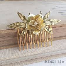 gold pearl hair b stoner gift gold hair b bridal b cly wedding cans gift stoner accessories smco 0009 gpe