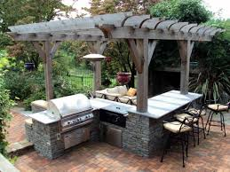 patio outdoor stone kitchen bar: most seen gallery featured in extravagant outdoor modular kitchen design offering convenience cooking outside your home