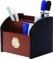 office supplies MDF material desk organizer pen holder