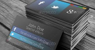 Social Media Business Cards Design 9 Business Card Design