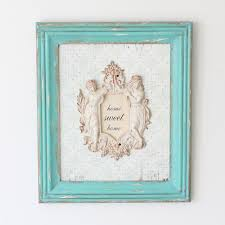 Shabby Chic Wall Decor Shop Rectangular Shabby Chic Wall Decor Blue Online Now Echobella Nz