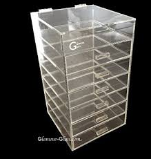 glamour gl clear cosmetic cube acrylic makeup organizer 7 tier w lid 6 drawers in on alibaba
