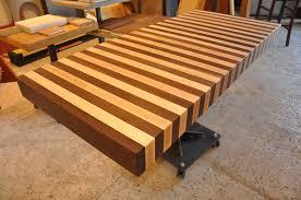 maple and walnut edge grain butcher block wood countertop