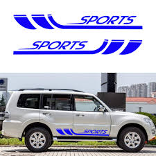 Pajero Sticker Design Amazon Com Carado Racing Body Side Stripe Skirt Roof Hood