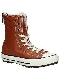 com converse women s chuck taylor allstar hi rise boot leather fur antique sepia ankle bootie