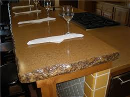 concrete countertops that look like granite slabs rustic kitchen