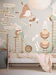 Great Alice In Wonderland Childu0027s Bedroom With Soft Colors #kids Bedrooms  #whimsical Decor