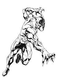 12 Disegni Di Black Panther Da Colorare Marvel Black Panther