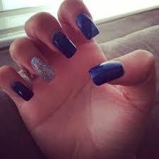 Navy Blue Nail Designs For Prom Navy Blue Nails Prom Nails Beauty Navy Blue Nails Blue
