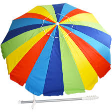 beach umbrella. Delighful Umbrella 20 Panel BeachPatio UPF 100 Umbrella  Rainbow  Beach Umbrellas   BeachStorecom With