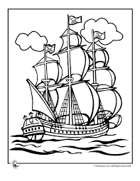 A large printable pirate face that prints over 8 a simple printable activity where children match the initial sounds on the treasure chest lids to the item inside. Pirate Ship Pictures Free Coloring Home
